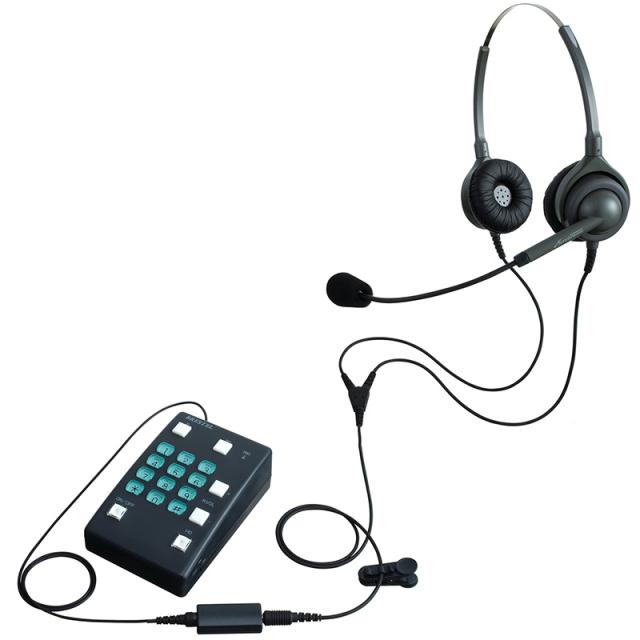 エンタープライズ製ブレステルパック両耳タイプ ヘッドセット型電話機(ヘッドセット + 電話機)