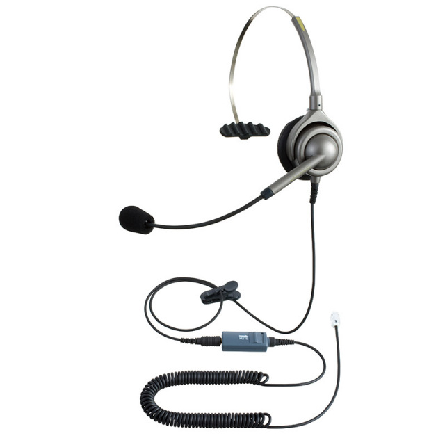 エンタープライズ製 IPヘッドセットパック片耳タイプ MC3接続コード(ミュートスイッチ付)