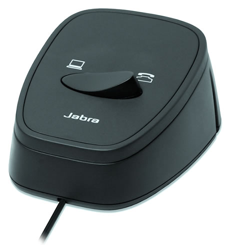 Jabra製 ビジネスホン、PCソフトフォン接続切替スイッチ Jabra Link 180(180-09)