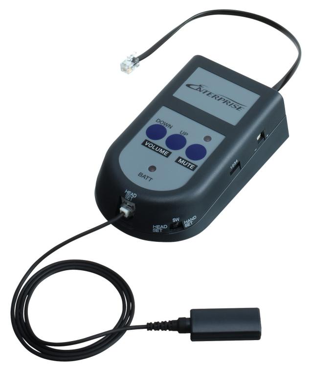 エンタープライズ製ヘッドセット用 モジュラーアンプ(一般電話機向け)