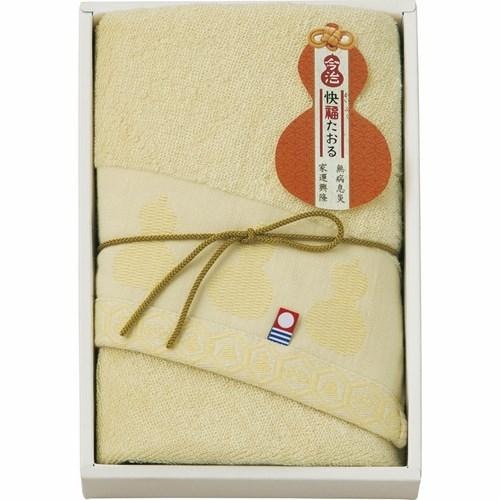 今治製タオル 快福たおる フェイスタオル イエロー(B5046059)