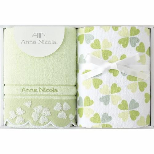 アンナ・ニコラ クローバー フェイスタオル2P グリーン(B5048124)