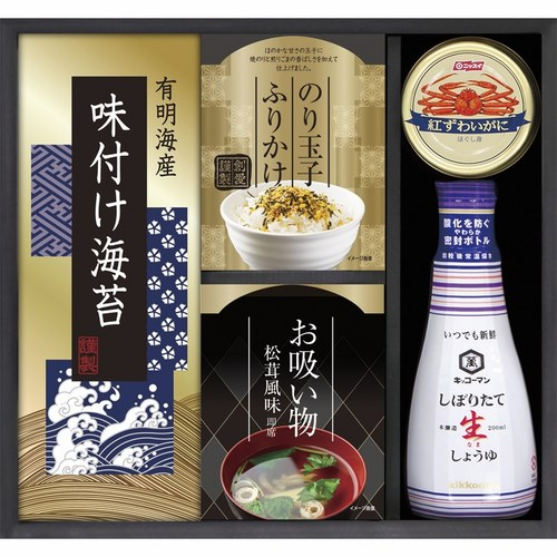キッコーマン生しょうゆ&ニッスイかに缶詰合せ(B5072089)