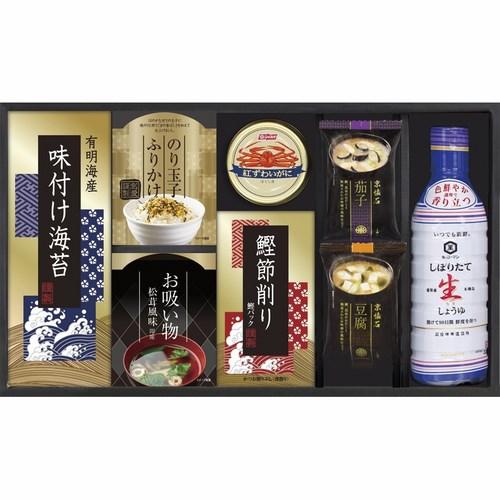 キッコーマン生しょうゆ&ニッスイかに缶詰合せ(B5110035)