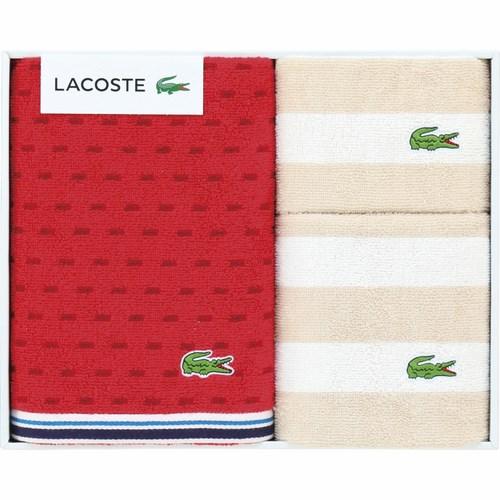 ラコステ Lサジェス タオルセット レッド(B5126079)