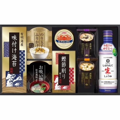 キッコーマン生しょうゆ&ニッスイかに缶詰合せ(B6110530)