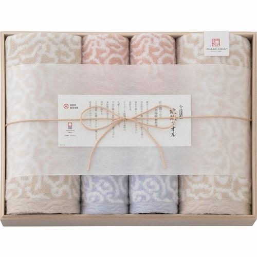 今治謹製 紋織タオル タオルセット 木箱入(B6160514)