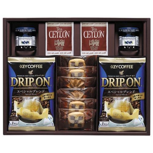 【送料無料】 キーコーヒー ドリップコーヒー&クッキー&紅茶アソートギフト ( soumu_U14-05 )