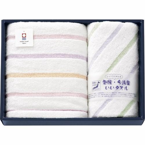 愛媛・今治産いいタオル ふっくらふわふわ フェイスタオル&ウォッシュタオル(L4045020)