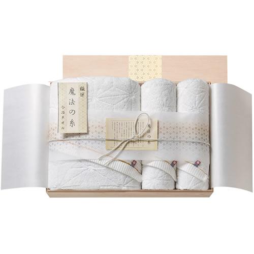 今治極選 魔法の糸 バスタオル・フェイスタオル2P 国産木箱入 (MOK-090)