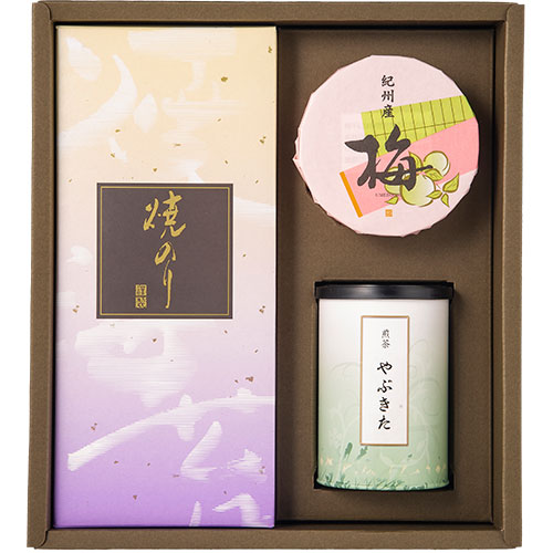 銘茶・紀州梅干・焼海苔 詰合せ(SNU-C)