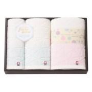 フワップ&ココ 無撚糸×天然水 日本製 愛媛今治 タオルセット(63850)