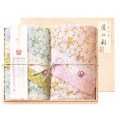 しまなみ匠の彩 白桜 タオルセット 国産木箱入 (BFK-20)