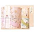 しまなみ匠の彩 白桜 タオルセット 国産木箱入 (BFK-40)