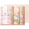 しまなみ匠の彩 白桜 タオルセット 国産木箱入 (BFK-50)