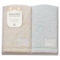 MASIRO Palette フェイスタオル2P イエロー・ブルー ( PAL-420-1 )