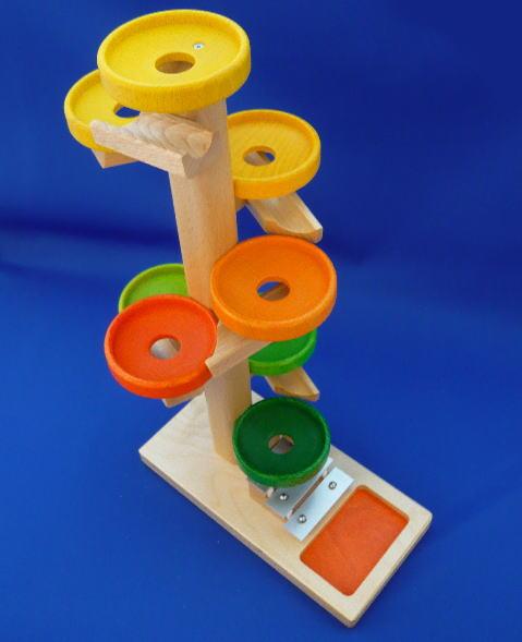 トレイクーゲルタワー レインボー 木のおもちゃ