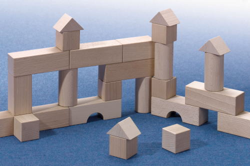 HABAブロックス スターターセット 小 木のおもちゃ 白木の積木 積木 積み木 つみき 木製 知育