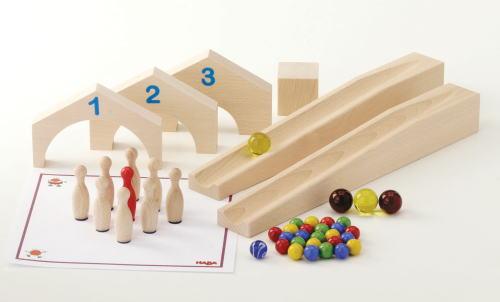 組立てクーゲルバーン ゲームセット 【おまけのビー玉5個付き】 木のおもちゃ 補助パーツ 積木 積み木 つみき 木製 知育