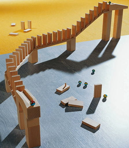 組立てクーゲルバーン ドミノラリーセット 【おまけのビー玉5個付き】 木のおもちゃ 補助パーツ 積木 積み木 つみき 木製 知育
