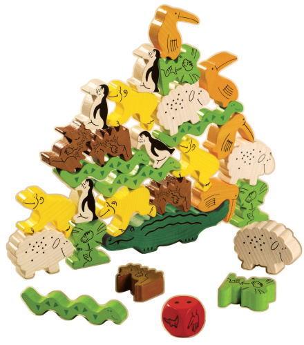 ゲーム ワニに乗る? 木のおもちゃ 積木 積み木 つみき ハバ HABA ゲーム