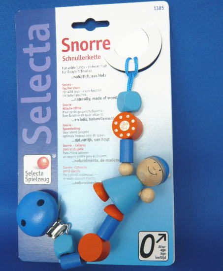 おしゃぶりホルダー スノーレ 木のおもちゃ セレクタ SELECTA おしゃぶり 落下防止 ベビー