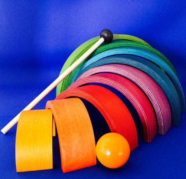 木のおもちゃ ★ネフ社 アークレインボウ★ つみき 積木 積み木 知育 楽器 玩具