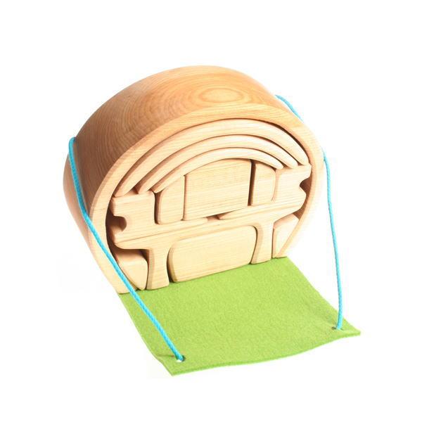 スマートハウス ナチュラル 木のおもちゃ GRIMM'S グリムス ドールハウス ままごと 積木 木製 知育 玩具