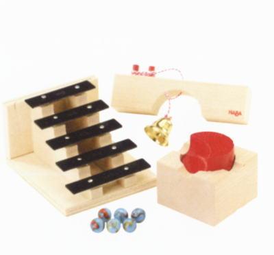 組立てクーゲルバーン ターン&サウンドセット 【おまけのビー玉5個付き】 木のおもちゃ 補助パーツ 積木 積み木 つみき 木製 知育