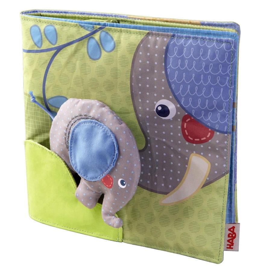 クロースブック・エレファント HA300146 布絵本 布のおもちゃ 玩具 知育 HABA ハバ ドイツ 出産 御祝