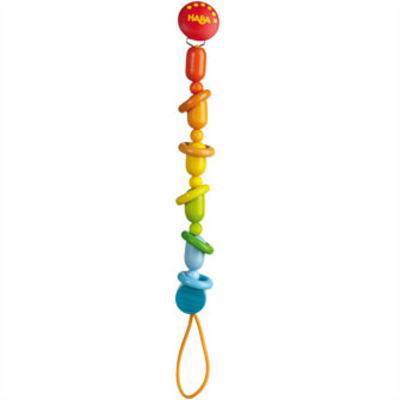 HAビードクリップ カラーリングス ベビー用 木のおもちゃ HABA ハバ おしゃぶり 落下防止 赤ちゃん