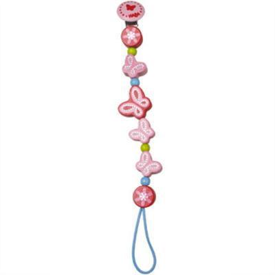 HAビードクリップ バタフライ 木のおもちゃ HABA ハバ おしゃぶり 落下防止 赤ちゃん