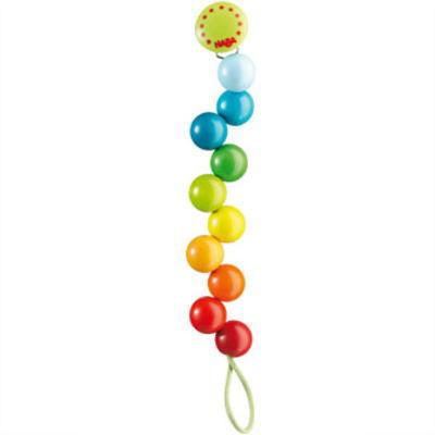 HAビードクリップ レインボーパール 木のおもちゃ HABA ハバ おしゃぶり 落下防止 赤ちゃん