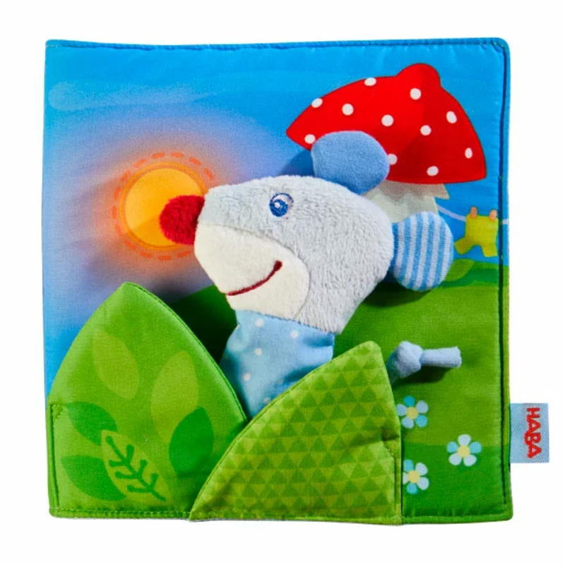 クロースブック・おやすみ HA304211 布絵本 布のおもちゃ 玩具 知育 HABA ハバ ドイツ 出産 御祝