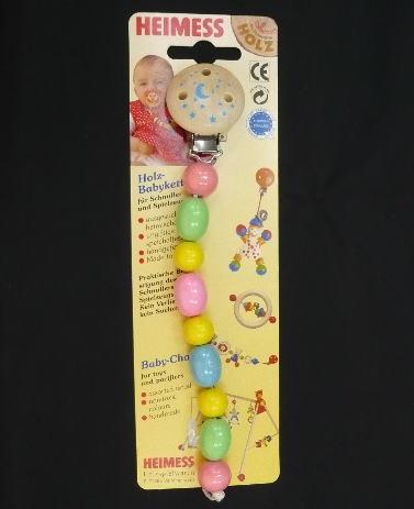 ベビーチェーン パステル 木のおもちゃ おしゃぶり 落下防止 ベビー