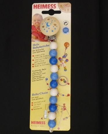 ベビーチェーン ブルー 木のおもちゃ おしゃぶり 落下防止 ベビー