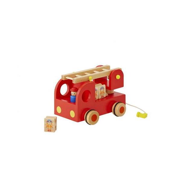 カタカタ 森の消防隊 木のおもちゃ 積木 積み木 ツミキ ごっこあそび 木製 知育 玩具