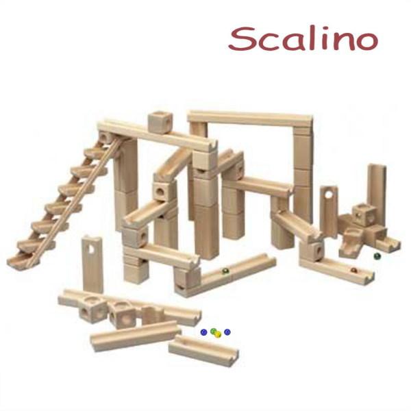 スカリーノ 3 【おまけのビー玉5個付き】 scalino 木のおもちゃ 積木 積み木 つみき 知育 玩具