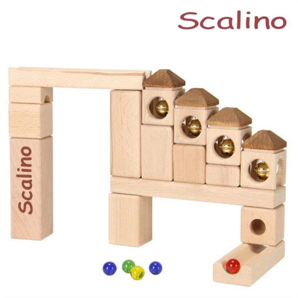 スカリーノ 鈴の塔セット 【おまけのビー玉5個付き】 scalino 木のおもちゃ 積木 積み木 つみき 知育 玩具
