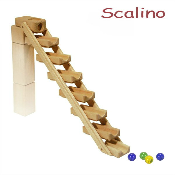 スカリーノ 滝 【おまけのビー玉5個付き】 scalino 木のおもちゃ 積木 積み木 つみき 知育 玩具