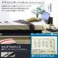 ベッド ベット セミダブルベッド ■デザインレザーベッドTOCS-09【ポケットコイルマットレス付】セミダブル■【代引不可】