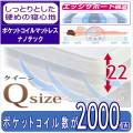 ポケットコイルマットレス 【ナノテック】 クイーンサイズ(マットレス2枚組)巾160cm