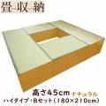 【在庫少数】 畳ユニット ハイタイプ Bセット(180×210cm) ナチュラル / 畳収納 畳ボックス 小上がり 高床式 畳 ユニット畳 ベンチ 収納 BOX ボックス スツール 堀こたつ たたみ タタミ