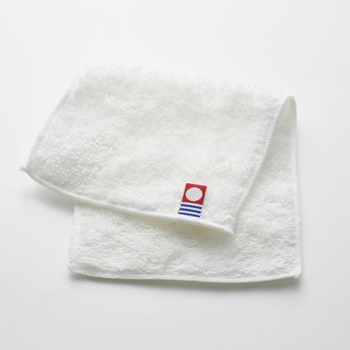 サスティナブルタオル 日本製 愛媛今治 ハーフハンカチ ホワイト(64809)