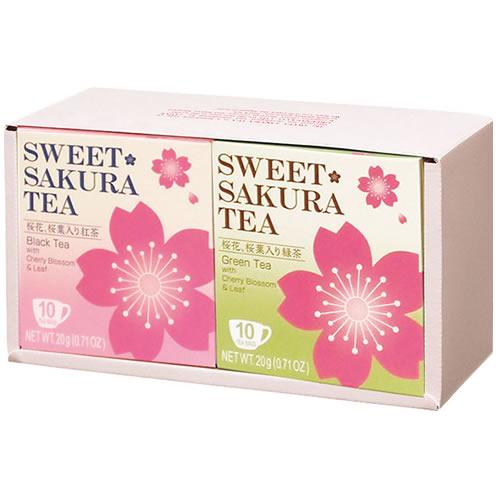 ティーブティック スイートサクラティー2個ギフトセット(紅茶・緑茶)KR(52030)