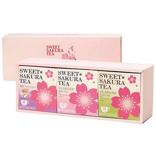 ティーブティック スイートサクラティー3個ギフトセット(桜花・紅茶・緑茶)OKR(52032)