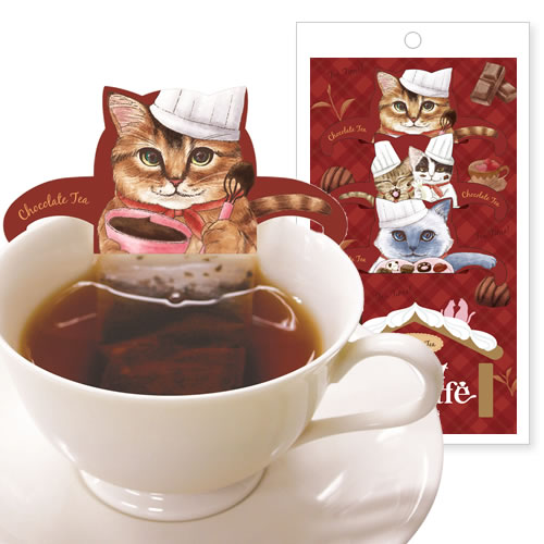 【メール便可】 スウィートキャットカフェ チョコレートティー ( 52058 )
