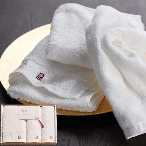 今治の贅沢なまっしろ 日本製 愛媛今治 タオルセット(63025)