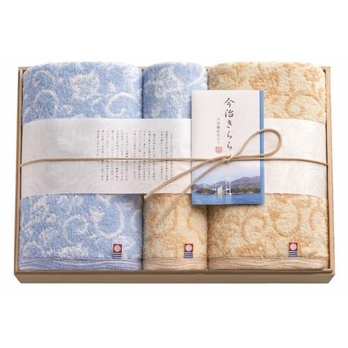 今治きらら 日本製 愛媛今治 木箱入りタオルセット(63560)