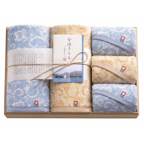 今治きらら 日本製 愛媛今治 木箱入りタオルセット(63580)